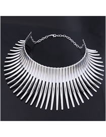 Fashion Silver Metal Mad Battle Hedgehog Styling Collar