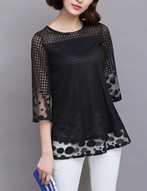 Fashion Black Lace Top