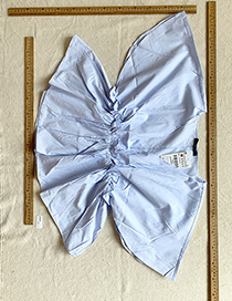 Fashion Blue Blue Waist Top