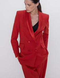 Fashion Red Double-breasted Suit