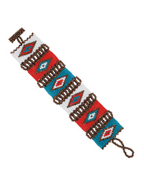 Fashion Color Geometric Beaded Woven Bracelet