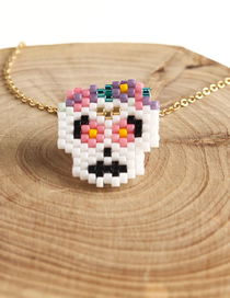 Fashion Color Taro Rice Beads Woven Necklace