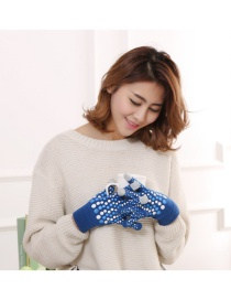 Fashion Hazel Touch Screen Wool Knit Gloves