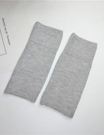 Fashion Light Grey Cashmere Half Finger Gloves