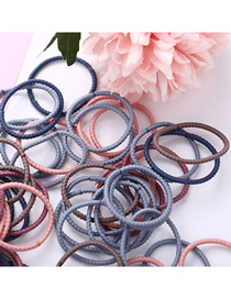 Fashion Thread Color High Elastic Seamless Children's Hair Ring 100 Pieces
