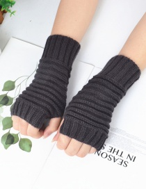 Fashion Dark Gray Pure Color Gloves