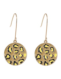 Fashion Yellow Drop Oil Leopard Bump Earrings