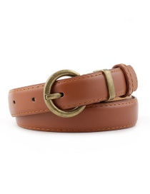 Fashion Camel Scissored Thin Belt