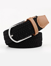 Fashion Black Tightly Woven Wide Belt