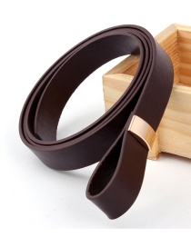 Fashion Brown Pu Leather Knotted Soft Belt