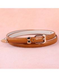 Fashion Camel Alloy Buckle Belt