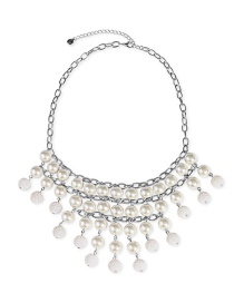Fashion Silver Multi-layer Pearl Necklace