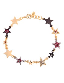 Fashion Red Star Diamond Bracelet