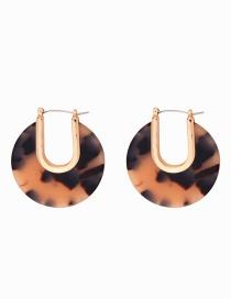 Fashion Black Acrylic Plate Earrings