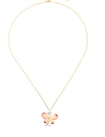 Fashion Red Drop Oil Butterfly Pearl Necklace