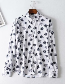 Fashion Black And White Flower Shirt