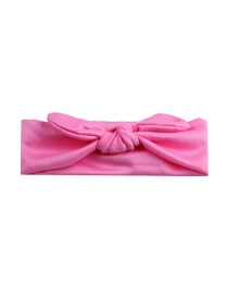 Fashion Rose Red Elastic Cloth Rabbit Ears Children's Hair Band