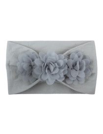Fashion Gray Chiffon Flower Nylon Baby Hair Band