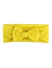 Fashion Yellow Elastic Cloth Bow Children's Hair Band