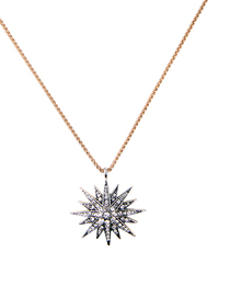 Fashion Star Silver Star Pendant Necklace