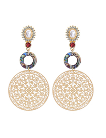 Fashion Color Geometric Openwork Earrings
