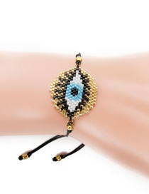 Fashion Gold Rice Beads Woven Eye Bracelet
