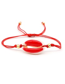 Fashion Red Drop Oil Shell Couple Bracelet