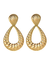Fashion Gold Alloy Shell Pattern Water Drop Shape Earrings