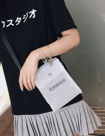 Fashion White Transparent Letter Shoulder Messenger Bag