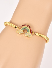 Fashion Gold Copper Inlaid Zircon Beaded Cloud Bracelet