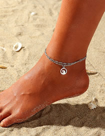 Fashion Silver Alloy Wave Anklet