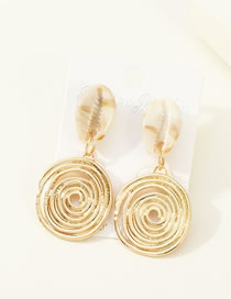 Fashion Shell Gold Alloy Natural Shell Earrings