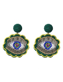 Fashion Green Rice Beads Earrings