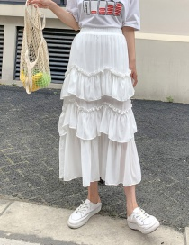 Fashion White Solid Color Skirt
