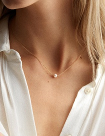 Fashion Gold Pearl Stainless Steel Necklace