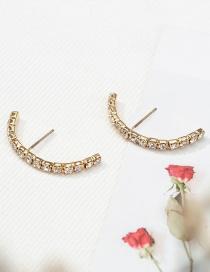 Fashion Gold Diamond Stud Earrings