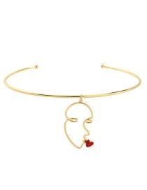 Fashion Gold Crystal Diamond Collar