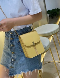 Fashion Yellow Chain Tassel One Shoulder Messenger Bag