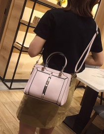 Fashion Pink One-shoulder Portable Messenger Bag