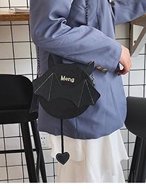 Fashion Black Cartoon Chain Shoulder Messenger Bag