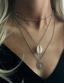 Fashion Silver Natural Shell Necklace