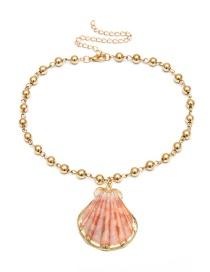 Collar De Perlas Imitación Chapado En Oro Natural