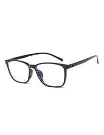 Fashion Bright Black Frame C1 Ultra-light Anti-blue Box Blue Film Flat Mirror Glasses