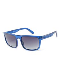 Fashion Blue Frame Gray Piece C6 Square Sunglasses