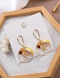 Fashion Shell 925 Silver Needle Conch Ring Earrings
