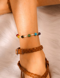 Fashion Color Woven Rice Beads Bead Bracelet Anklet