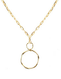 Fashion Gold Circle Alloy Necklace