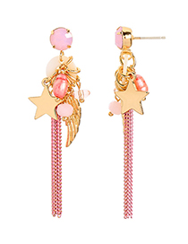Fashion Ear Needle S925 Silver Needle Pearl Shell Tassel Earrings
