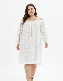 Fashion White One Dress And Two Lace Dresses