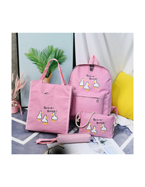 Fashion Pink Backpack Four-piece Suit